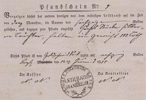 Erste Satzung 1809